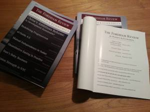 Fordham Political Review is in print today. (Courtesy of FPR)