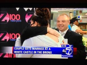 A lesbian couple was married inside White Castle. (Twitter)