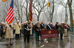 Fordham alumni pictured during last year's parade. (Connor Ryan)
