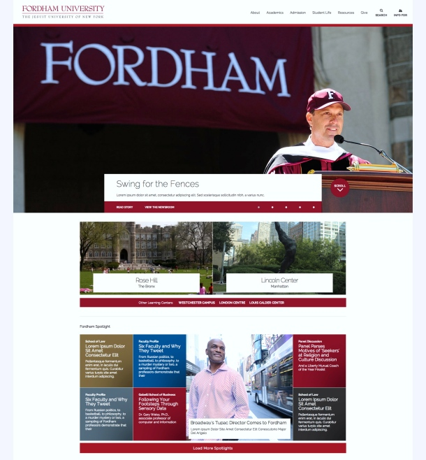 The future of Fordham.edu