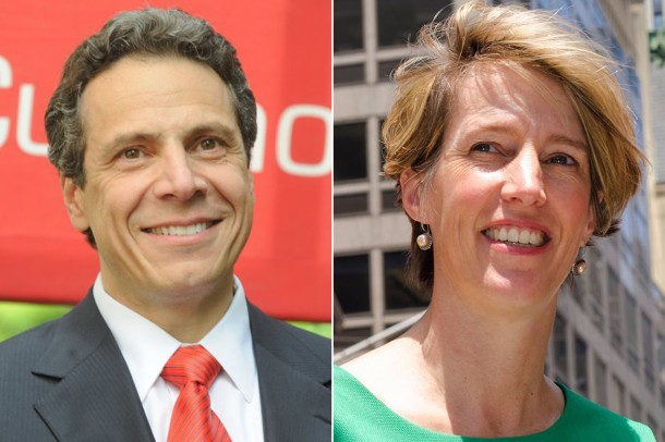 New York Gov. Andrew Cuomo (left) and Law Professor Zephyr Teachout.